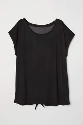 H&M Wide-cut Yoga Top - Black