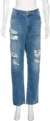 Anine Bing Distressed High-Rise Jeans