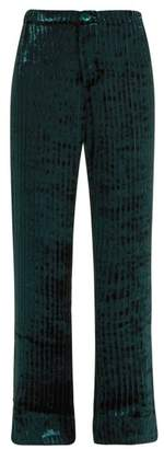 F.R.S – For Restless Sleepers F.r.s For Restless Sleepers - Etere Devore Velvet Trousers - Womens - Blue