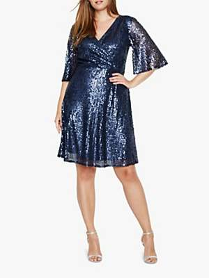 Maya Sequin Dress, Blue