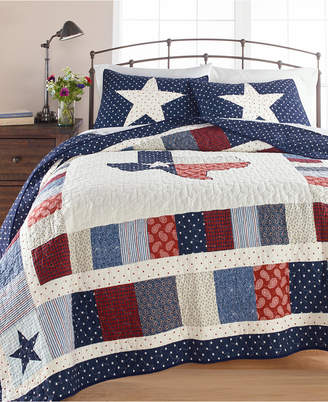 Martha Stewart Collection Texas Patchwork Cotton King Quilt