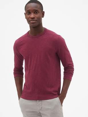 Gap Long Sleeve Pieced T-Shirt in Slub Cotton