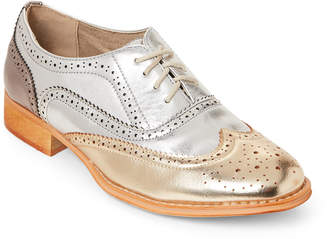 Wanted Silver & Gold Babe Wingtip Oxfords