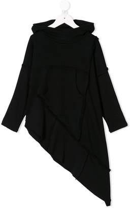 Nununu asymmetric quilt poncho