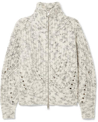 Isabel Marant Janet Merino Wool Turtleneck Jacket - Ecru