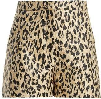 Valentino Leopard-print brocade shorts
