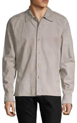 Corneliani Long Sleeve Suede Shirt Jacket