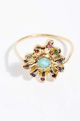 Elisa Solomon 18k Rainbow Daisy Ring
