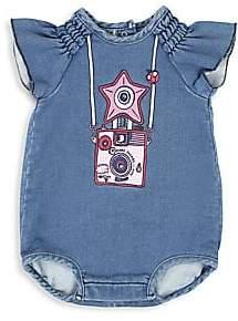 8a00082d2ed Little Marc Jacobs Baby Girl s Denim Trompe L Oeil Bodysuit