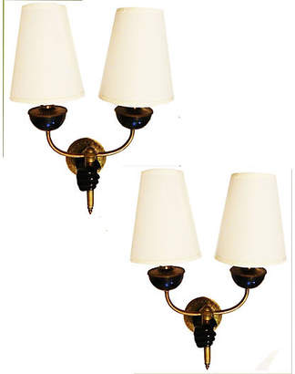 One Kings Lane Vintage French Wall Sconces by Andre Arbus - Set of 2 - Thomas Brillet Inc.