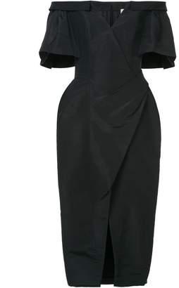 Carolina Herrera off shoulder ruched dress
