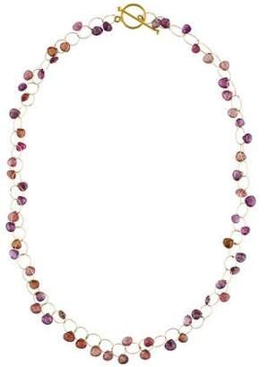 18K Sapphire Bead Strand Necklace