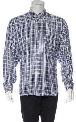 Burberry Linen Button-Up Shirt