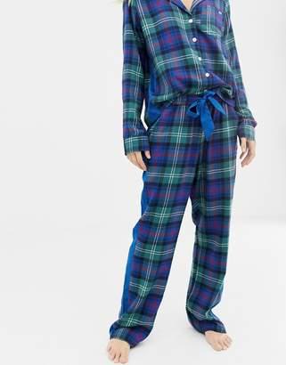 Abercrombie & Fitch plaid pyjama pants with side panel