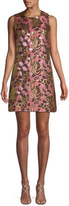 Rachel Roy Metallic Floral Dress