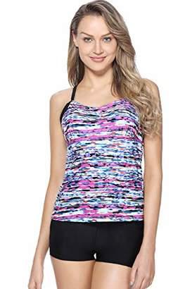 8554e0705c Marina Threads Two Piece Swimsuit Boyshorts Bathing Suits Tankini Tummy  Control Swimsuit
