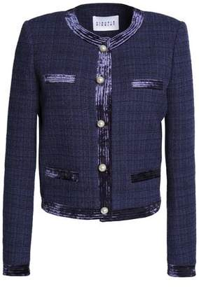 Claudie Pierlot Velvet-trimmed Tweed Jacket