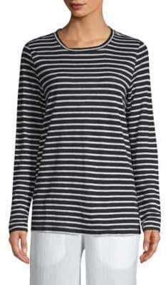 Eileen Fisher Seaside Long Sleeve Stripe Top