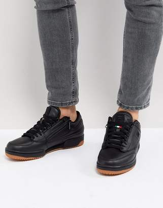 Fila T-1 Mid Zipper Trainer In Black