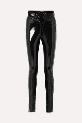 Maison Margiela Vinyl Skinny Pants - Black