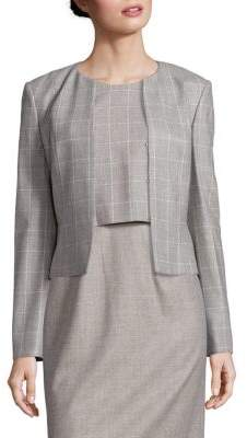 Jafina Windowpane Jacket $545 thestylecure.com