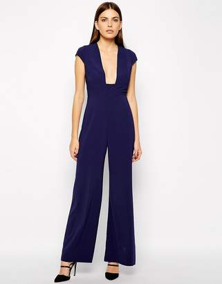 AQ AQ Collate Square Plunge Neck Jumpsuit $294 thestylecure.com