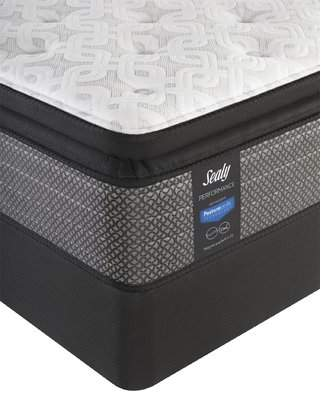 Sealy Performance 13.5 Plush Pillowtop Mattress with 5 Low Profile Foundation
