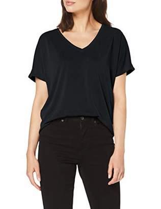 S'Oliver BLACK LABEL Women's 11.908.32.7652 T-Shirt, (Black 9999), (Size: 46)