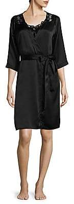 Hanro Women's Embroidered Wrap Robe