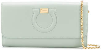 Salvatore Ferragamo embossed Gancio clutch bag