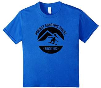 Funny Snowboarding Tshirt Proudly Annoying Skiers
