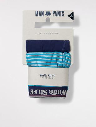 White Stuff Fine Stripe Boxer Double Pack