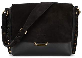 Isabel Marant Asli Large Leather And Suede Shoulder Bag