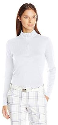 Cutter & Buck Women's Belfair Pima Half-Zip Long Sleeve Pullover