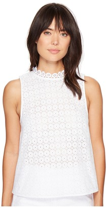 kensie - Eyelet Dots Top KS4K4300 Women's Clothing $65 thestylecure.com