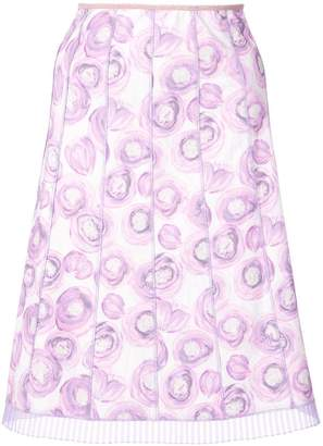 Marc Jacobs floral print pleated skirt