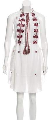 Etoile Isabel Marant Embroidered Sleeveless Dress