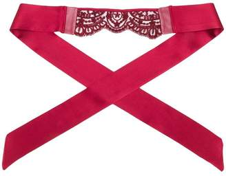Loveday London lace-embroidered garter