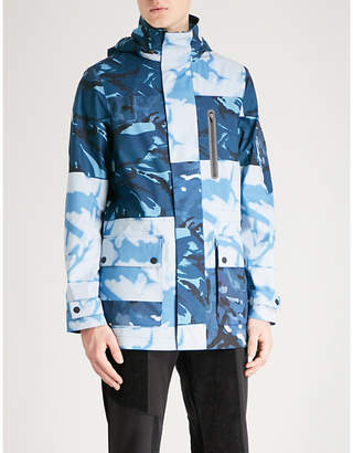 RAEBURN X SAVE THE DUCK Camouflage-print shell parka jacket