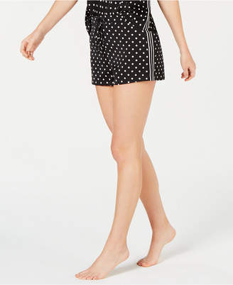 INC International Concepts Inc Satin Tuxedo Stripe Pajama Shorts