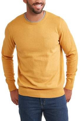 George Men's Crew Sweater, Up to Size 5XL