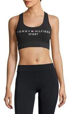 Tommy Hilfiger Performance Flag Logo Racerback Sports Bra