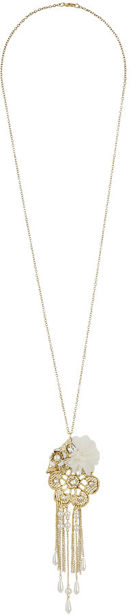 Forever 21 Flower Chain Necklace
