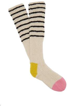 La Fetiche - Lyle Wool Socks - Womens - Black Stripe