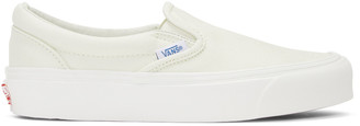 Vans Off-White OG Classic LX Slip-On Sneakers $60 thestylecure.com