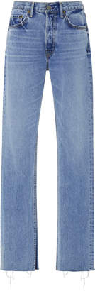 GRLFRND Denim Addison High-Rise Split-Leg Jeans