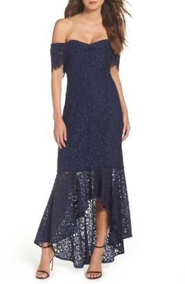 Women's Shoshanna Vanowen Lace Off The Shoulder Gown $649 thestylecure.com