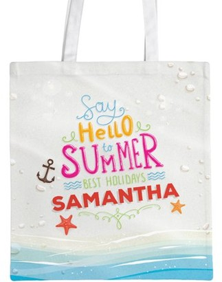 """Monogram Online Summer Holidays Custom Tote Bag, Sizes 11"""" x 14"""" and 14.5"""" x 18"""""""