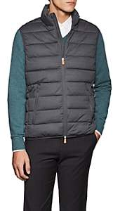 Save The Duck Men's Channel-Quilted Tech-Fabric Vest - Gray