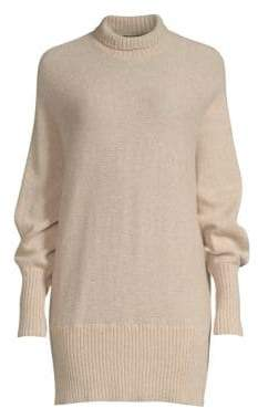 Lafayette 148 New York Dolman Cashmere& Silk Turtleneck Sweater